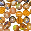 Perles en verre Fiesta 6mm jaune orange (x50)