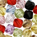 Perles synthétiques toupies 6mm assortiment (x80)