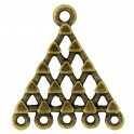 Connecteurs triangle 5 rangs 22x24mm bronze (x2)