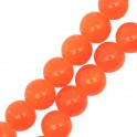 Perles en verre rondes 8mm orange (x25)