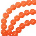 Perles en verre rondes 6mm orange (x50)
