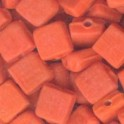 Perles pastille carrée 6x6mm orange (x35)