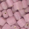 Perles pastille carrée 6x6mm rose (x35)