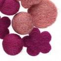 Kit perles en feutrine 20-30mm rose (x6)