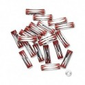 Perles en aluminium tube rouge 3x10mm (x10)