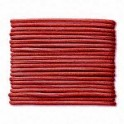 Cordon Cuir 1mm rouge (x1m)