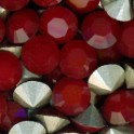 Strass rond pointu en cristal Swarovski 6mm DARK RED CORAL (x10)