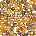 Perles en verre Fiesta 4mm jaune orange (x100)