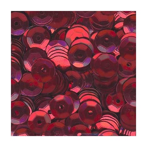 Sequins cup 5mm rouge (x12g)