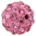 Perle Shamballa 10mm light rose (x1)