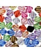 Perles synthétiques toupies 4mm assortiment (x200)