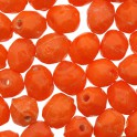 Perles grain de riz en verre orange opaque 4x5mm (x100)