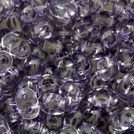 Perles SuperDuo 5x2,5mm tanzanite (x10g)