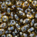 Perles SuperDuo 5x2,5mm smoked topaz (x10g)