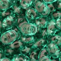 Perles SuperDuo 5x2,5mm emerald (x10g)