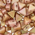 Perles Khéops® par Puca® 6mm opaque rose ceramic look (x10g)