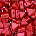 Perles Khéops® par Puca® 6mm red metallic mat (x10g)