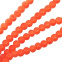 Perles en verre rondes 4mm orange (x100)
