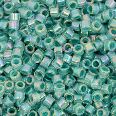 Perles Miyuki Delicas 11/0 DB0079 Turquoise Green Lined Crystal AB (x5g)