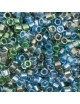Perles Miyuki Delicas 11/0 DB2053 Lined Green Blue Mix (x5g)