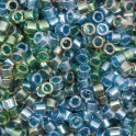 Perles Miyuki Delicas 11/0 DB0985 Lined Green Blue Mix (x5g)