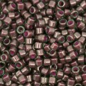 Perles Miyuki Delicas 11/0 DB0279 Lined Green Maroon Luster (x5g)