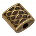 Perles métal pastille rectangle 6x7mm bronze (x10)