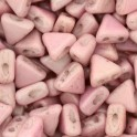 Perles Khéops® par Puca® 6mm opaque light rose ceramic look (x10g)