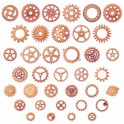 Engrenages steampunk 12-25mm or rose (x30g)