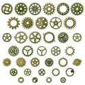 Engrenages steampunk 12-25mm bronze (x30g)
