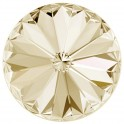 Rivoli 1122 cristal Swarovski 10mm Golden Shadow - silver foiled (x1)