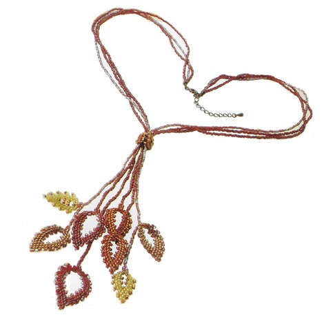 Kit collier feuilles Miyuki - Persian red Leaves Necklace (x1)