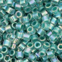 Perles Miyuki Delicas 10/0 DBM0079 Turquoise Green Lined Crystal AB (x5g)