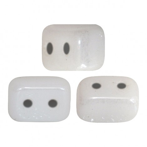 Perles Ios® par Puca® 4x6mm opaque white ceramic look (x10g)