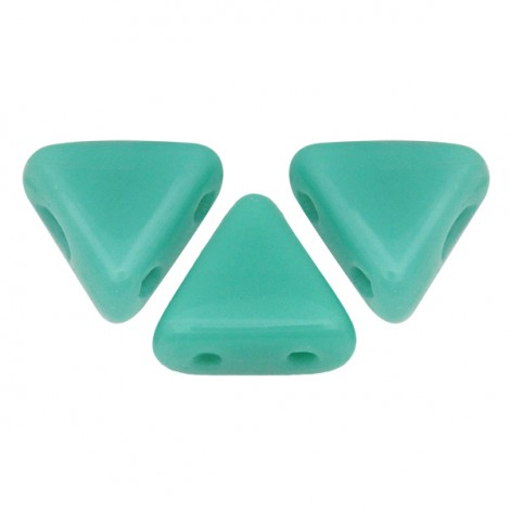 Perles Khéops® par Puca® 6mm opaque green turquoise (x10g)