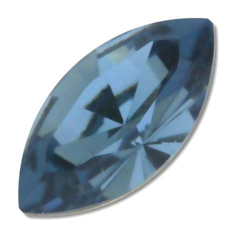 Navette 4228 en cristal Swarovski 5x10mm Denim Blue (x1)