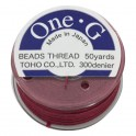 Fil nylon Toho One-G 0,25mm Burgundy (x45m)