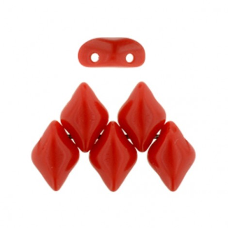 Perles Gemduo 5x8mm Opaque Red (x10g)
