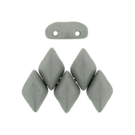 Perles Gemduo 5x8mm Saturated Gray (x10g)