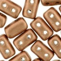 Perles Rulla par Matubo 3x5mm Metallic Copper Mat (x10g)