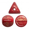 Perles Ilos® par Puca® 5x5mm OPAQUE CORAL RED BRONZE (x10g)