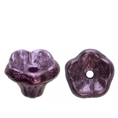 Perles Flower Cup 5x7mm Pastel Bordeaux (x50)