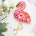 Kit Abris Art - broderie en perles - Broche Flamant Rose (x1)