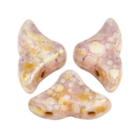Perles Helios® par Puca® 6x10mm OPAQUE MIX ROSE GOLD CERAMIC LOOK (x10g)