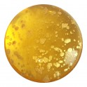 Cabochon par Puca® rond en verre 25mm LIGHT TOPAZ SPLASH GOLD (x1)