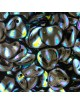 Perles Rose Petals 7x8mm Jet AB Stripes (x50)