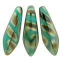 Perles Dague 5x16mm Jade Celsian Stripes (x20)