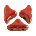 Perles Helios® par Puca® 6x10mm OPAQUE LIGHT CORAL BRONZE (x10g)
