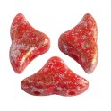 Perles Helios® par Puca® 6x10mm OPAQUE CORAL RED TWEEDY (x10g)