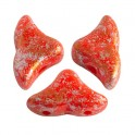 Perles Helios® par Puca® 6x10mm OPAQUE LIGHT CORAL TWEEDY (x10g)